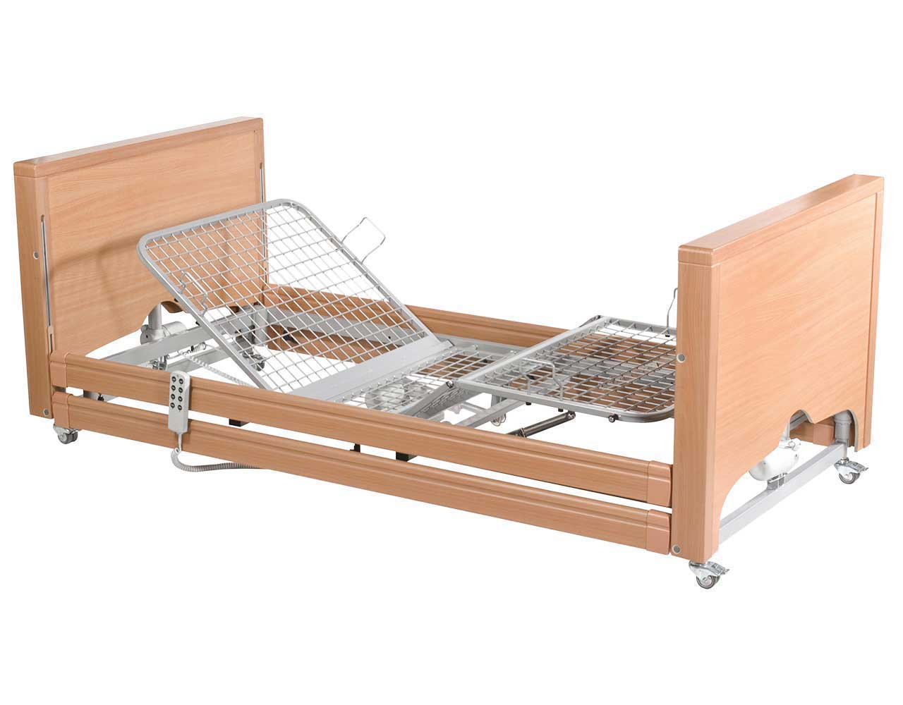 Low Homecare Bed  Overbed Table